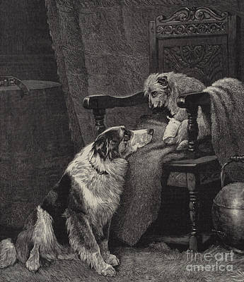 Mans Best Friend Painting - Silent Sympathy by Arthur Batt