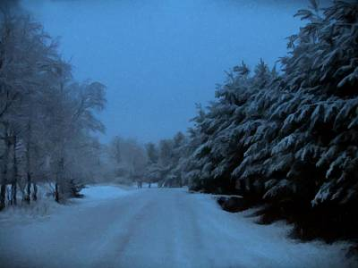 Photograph - Silent Winter Night  by David Dehner