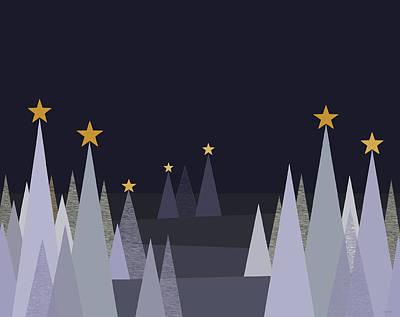 Digital Art - Silent Winter Night by Val Arie