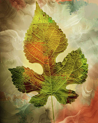 Maple Leaf Art Mixed Media - Silently Fall The Autumn Leaves-colorful Contemporary Art by Georgiana Romanovna