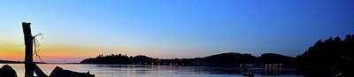 Photograph - Siletz Bay Lights 6136 by Jerry Sodorff