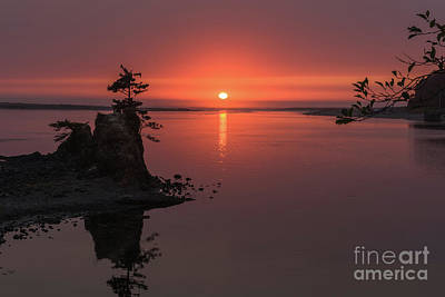 Photograph - Siletz Bay Sunset by Tim Moore