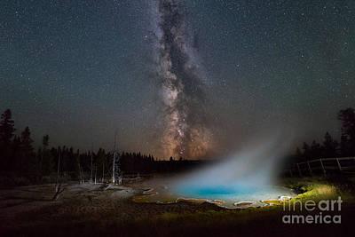 Silex Spring Milky Way  Art Print