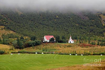 Photograph - Silfrastadakirkja Church In Iceland by Catherine Sherman
