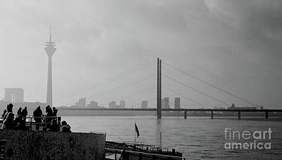 Duesseldorf Photograph - Silhouette And Cityscape by Denvie Green