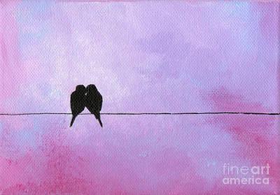 Painting - Silhouette Birds by Julia Underwood
