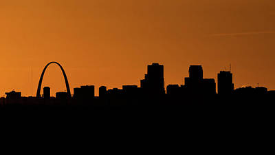 Monks Mound Photograph - Silhouette City by Allen Skinner
