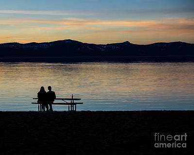 Photograph - Silhouette Sunset Serenity by Suzanne Luft