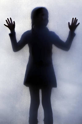 Silhouette Of A Girl Print by Joana Kruse