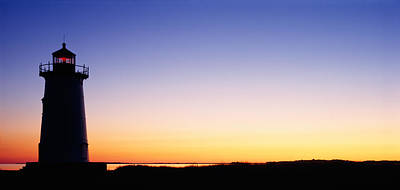 Marthas Vineyard Photograph - Silhouette Of A Lighthouse, Edgartown by Panoramic Images