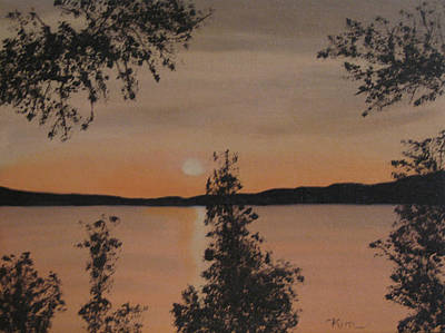 Painting - Silhouette Of A Sunset by Kimber  Butler