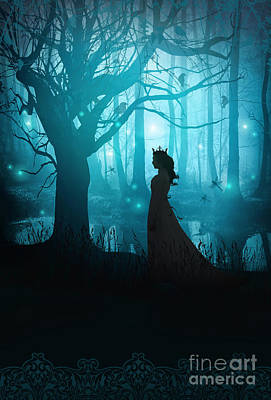 Photograph - Silhouette Of A Womanin In A Forest At Twilight by Sandra Cunningham