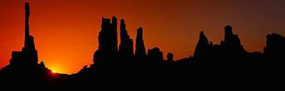Silhouette Of Arizona Desert Rock Art Print