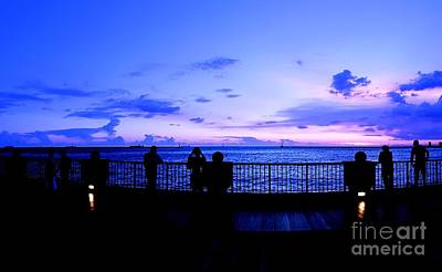 Photograph - Silhouette Of People At Sunset by Yali Shi