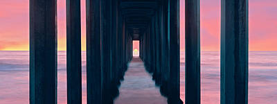 Silhouette Of Scripps Pier, La Jolla Art Print by Panoramic Images
