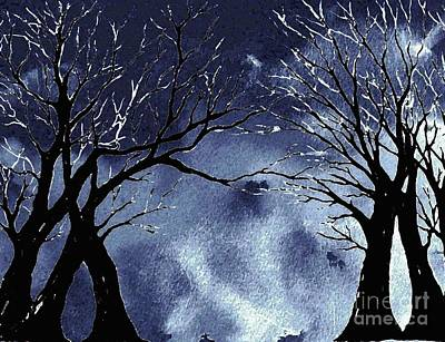 Painting - Silhouette Of Winter Magic by Hazel Holland