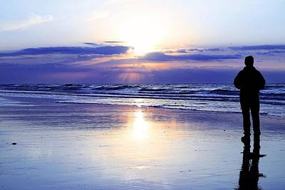 Photograph - Silhouette Sunrise On The Atlantic Ocean by Carol Montoya