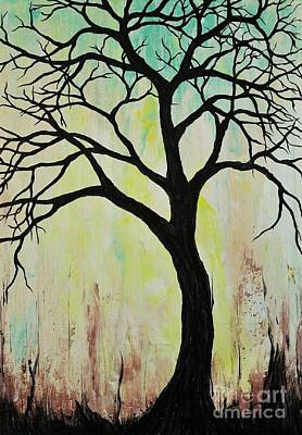 Painting - Silhouette Tree 2018 by Jessie Art