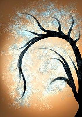 Mixed Media - Silhouette Tree by Lisa Stanley