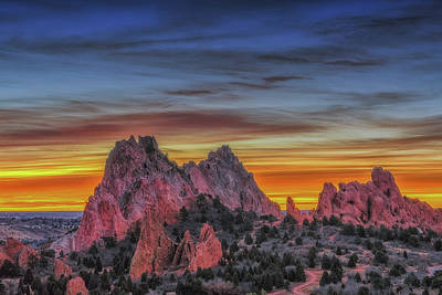 Silhouette Uncovered At Cathedral Rock Art Print by Luis A Ramirez