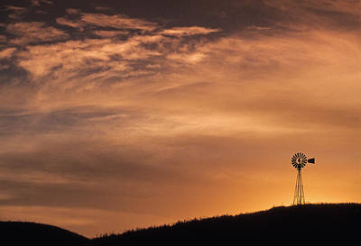 Photograph - The Silhouette Windmill  by Doug Davidson