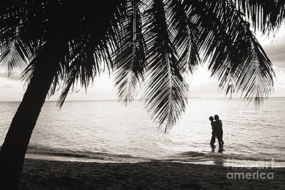 Silhouetted Couple Art Print by Larry Dale Gordon - Printscapes