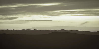 Photograph - Silhouetted Mountains by Don Schwartz