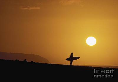 Silhouetted Surfer Art Print by Ali ONeal - Printscapes