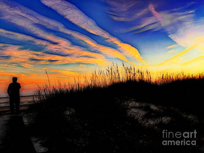 Photograph - Silhouetted Under A Sunset Sky by Sue Melvin