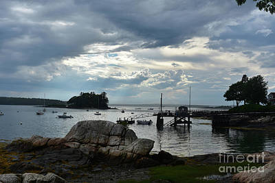 Silhouetted Views From Bustin's Island In Maine Art Print
