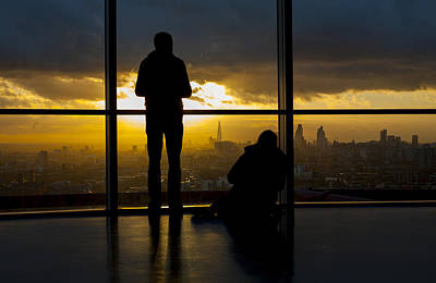 London Skyline Royalty-Free and Rights-Managed Images - Silhouettes City Skyline  by David French