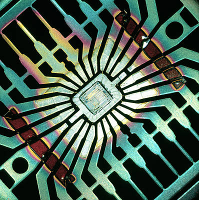 Integrated Photograph - Silicon Chip by Pasieka