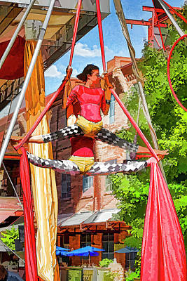 Photograph - Silk Aerialist 6 by Scott Faber