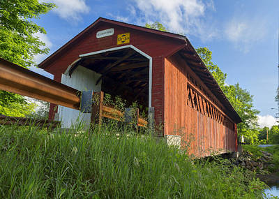 Bennington Photograph - Silk Covered Bridge by Stephen Stookey