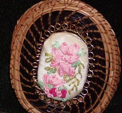 Pine Needles Mixed Media - Silk Embroidery Pine Needle Jewelry Box by Russell  Barton