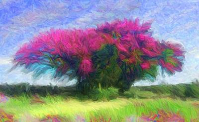 Digital Art - Silk Floss Tree by Caito Junqueira