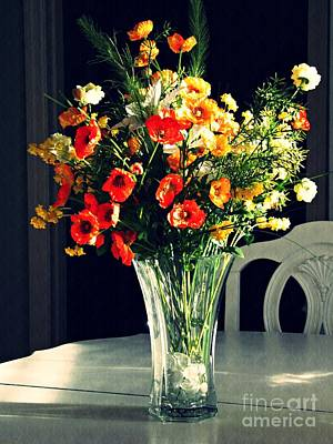Photograph - Silk Flowers Still Life by Sarah Loft