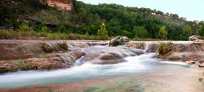 Photograph - Silk Rapids At Mo Ranch by Walter E Koopmann