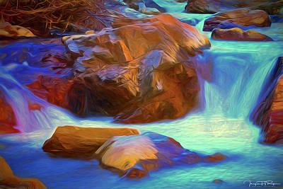 Water Filter Mixed Media - Silken Flow by Todd Yoder