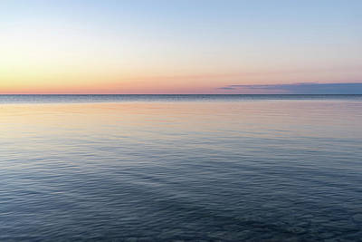 Photograph - Silky And Transparent - Dawn Gradient On The Waterfront by Georgia Mizuleva