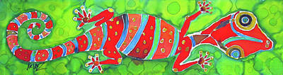 Silky Gecko Art Print by Kelly     ZumBerge
