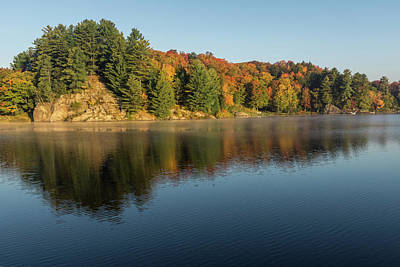 Photograph - Silky Morning - Autumn On Lake Rosseau In Muskoka by Georgia Mizuleva