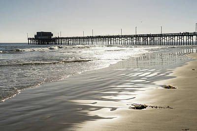 Photograph - Silky Sands And Sunshine - Newport Beach Pier Orange County California by Georgia Mizuleva