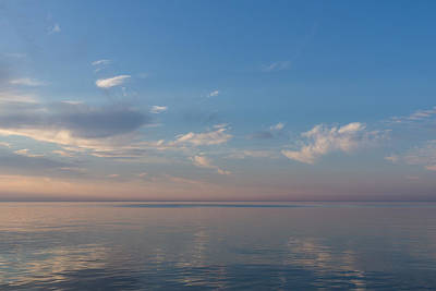 Photograph - Silky Satin On The Lake - Soft Puffs And Brushstrokes by Georgia Mizuleva