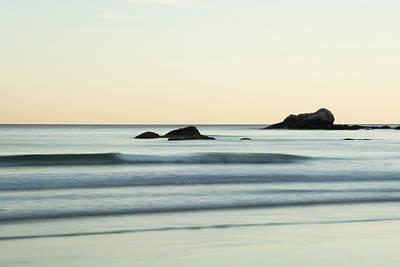 Photograph - Silky Water And Rocks On The Rhode Island Coast by Nancy De Flon