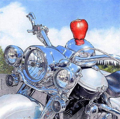 Painting - Sill Life with Harley by Rhonda Dicksion