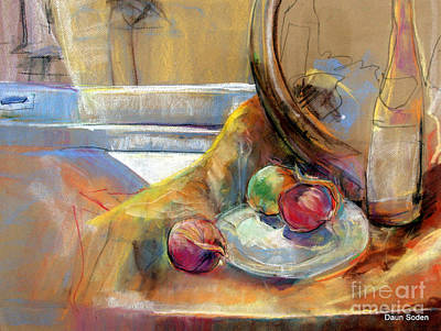 Painting - Sill Life With Onions by Daun Soden-Greene