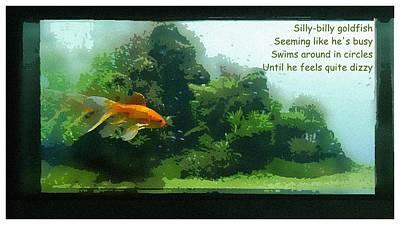 Digital Art - Silly Billy Goldfish by Al G Smith