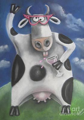 Silly Cow Art Print