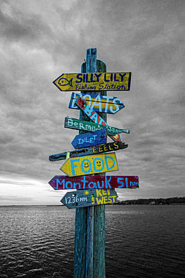 Photograph - Silly Lily Fishing Station Sign by Robert Seifert